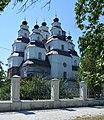 Novomoskovs'k Peremogy Ploscha 1 Troyits'kiy Sobor 06 (YDS 7042).jpg