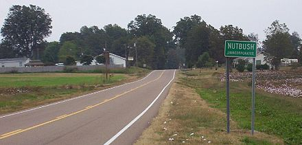 Nutbush, an unincorporated area in Haywood County, Tennessee Nutbush unincorporated.jpg