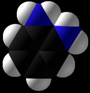 O-Phenylenediamine - Image: O Phenylenediamine Space Fill