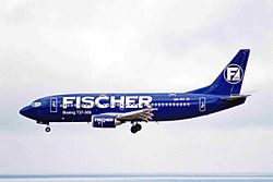 OK-FIT B737-36N Fischer Air LPA 01NOV00 (6802766794).jpg
