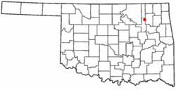 Location of Collinsville, Oklahoma