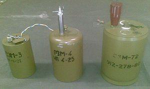 OZM - Armed OZM 3,4,72 anti-personnel mines