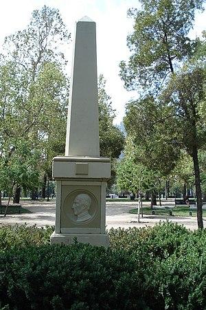 Camilo Henríquez - Obelisk dedicated to Friar Camilo Henríquez, Manuel de Salas, Manuel José Gandarillas y José Miguel Infante in the  Parque Forestal in the city of Santiago de Chile