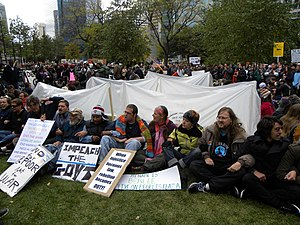 Occupy Minneapolis tent protest October 15 2011.jpg