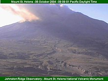 Mt st helens eruption video 2004