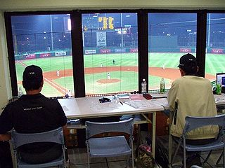 Official scorer Person who records the official record of events in a baseball game