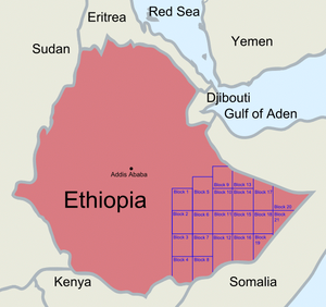 Ogaden Basin - Exploration blocks in the Ogaden Basin and Kismayo Coast