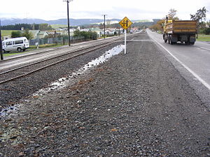 Ohai - The main street in Ohai running parallel with the Ohai Line in New Zealand