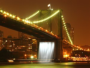 Culture of Brooklyn - Olafur Eliasson's Waterfalls under the Brooklyn Bridge