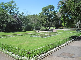 Old Court House Recreation Ground - Image: Old Court House flowerbeds