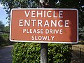Old sign at entrance to Fordbridge Park - geograph.org.uk - 2261685.jpg