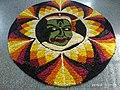 Onam pookkalam Цветочный ковер Nithyananda Ashram Kanhangad 2019.jpg