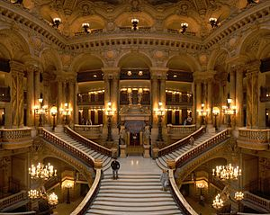Napoleon III style - Grand staircase of the Palais Garnier