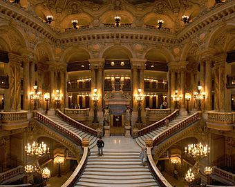 The Grand Escalier in the main hall