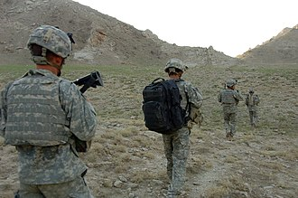 Long-range surveillance - A long-range surveillance team from the 82nd Airborne Division in Afghanistan during 2007
