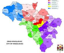 mapa kragujevca sa ulicama i naseljima Kragujevac   Wikipedia mapa kragujevca sa ulicama i naseljima