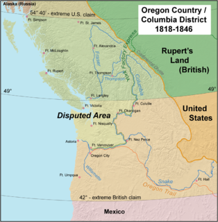 Oregon boundary dispute early 19th century USA-UK boundary dispute