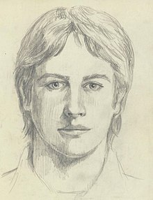 Sketch of a young, white male