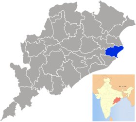 Localisation de District de Kendrapara