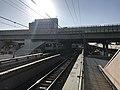 Osaka Loop Line from platform of Bentencho Station.jpg