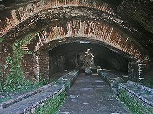 Mithraeum - A mithraeum found in the ruins of Ostia Antica, Italy