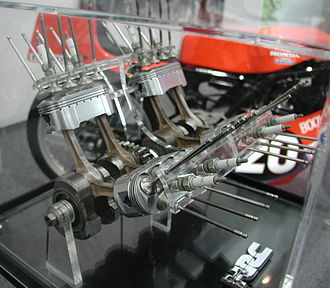 Honda NR500 - Oval pistons, piston rings and dual-conrods