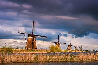 Alblasserwaard polder in the Netherlands