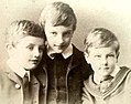 P.G. Wodehouse with older brothers 1887.jpg