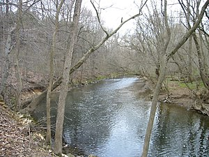 Battle of White Marsh - The Wissahickon Creek, near the encampment of the Pennsylvania militia.