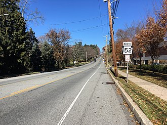 Pennsylvania Route 152 - PA 152 northbound past PA 73 in Glenside