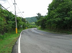 A section of rural Barrio Cerrillos along PR-139 heading northbound