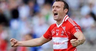 Paddy Bradley - Bradley celebrates scoring against Monaghan in the 2009 Championship