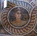Palazzo dei gran maestri di rodi, sala delle muse, mosaico delle nove muse da kos 07 calliope.JPG
