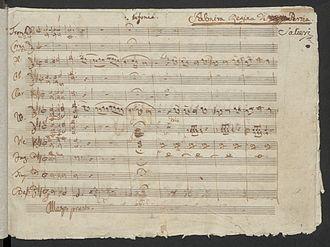 Antonio Salieri - The beginning of Salieri's opera Palmira, regina di Persia