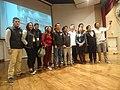Panelistas y algunos asistentes foro Wikipedia ¿Recomendable o no para la investigación y educación?en el IAEN.jpg