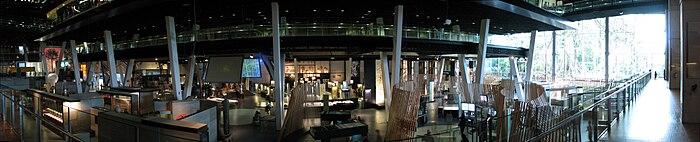 Panorama van de centrale zaal van CosmoCaixa