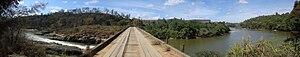 Doce River - Panorama of the Queimada Bridge over the Doce River, Doce River State Park, Bom Jesus do Galho