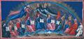 Paradis de Dante - Premier cercle des professeurs du royaume (miniatures de Giovanni di Paolo, XVe siècle).png