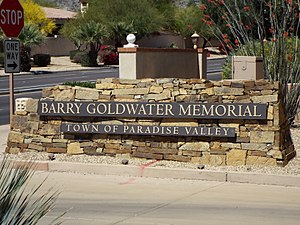 Paradise Valley, Arizona - Image: Paradise Valley Barry Goldwater Memorial 2
