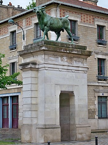 Français : une des entrées du parc Georges Bra...