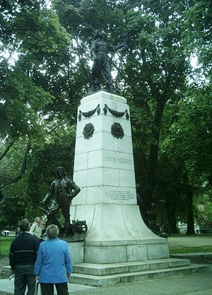 Louis Hébert - Hebert's monument at Montmorency park in Quebec City