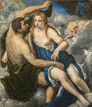 Io (mythology) - Paris Bordone - Zeus and Io - Kunstmuseum, Göteborg