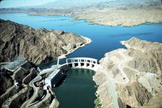 Colorado River Aqueduct - Parker Dam on Lake Havasu where Colorado River waters are initially drawn into the system