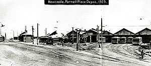 Trams in Newcastle, New South Wales - The Parnell Place tram depot