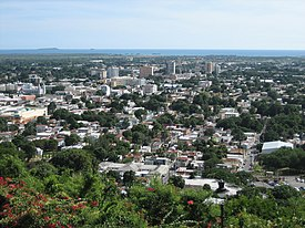 Partial view of the City of Ponce, looking SSW from Cerro El Vigía, Barrio Portugués Urbano, Ponce, Puerto Rico.jpg