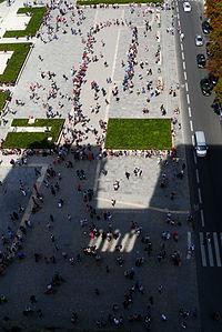 Parvis Notre-Dame - Place Jean-Paul II, Notre-Dame de Paris July 22, 2012.jpg