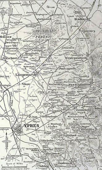 Night action of 1/2 December 1917 - Image: Passchendaele ridge, 1917