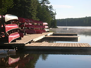 Camp Pathfinder - Image: Pathfinder Canoe Dock