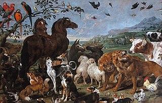 Entrée des animaux dans l'arche de Noé