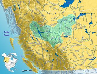 Einzugsgebiet des Peace River im westlichen Kanada